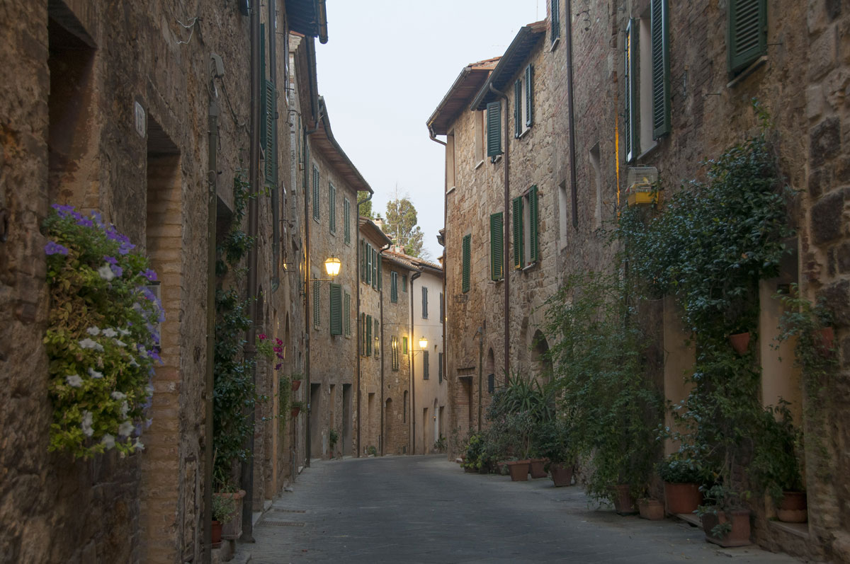 beautiful village in tuscany