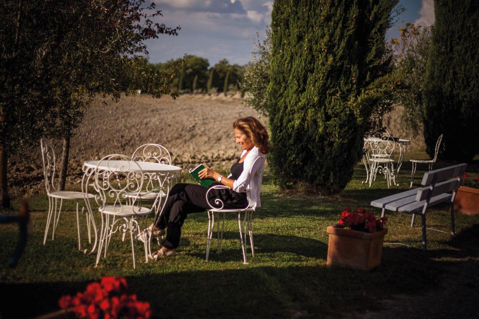 giardino panoramico agriturismo toscana